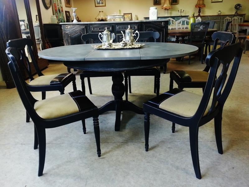 Table Et Six Chaises Patin Es Blaser Chic