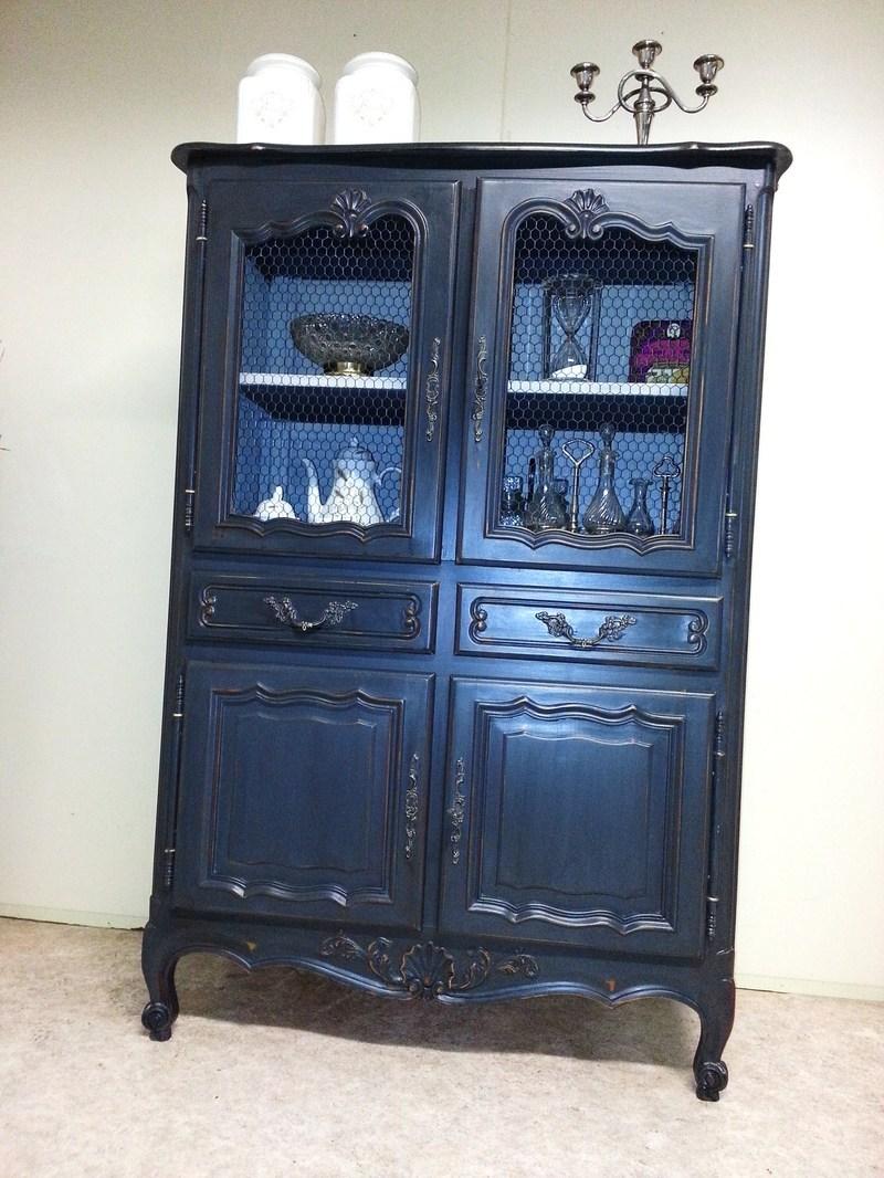 buffet garde manger r gence patin zinc. Black Bedroom Furniture Sets. Home Design Ideas
