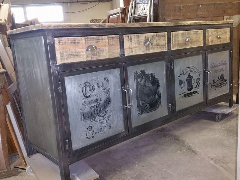Enfilade de style industriel - Fabriquer un meuble tv industriel ...