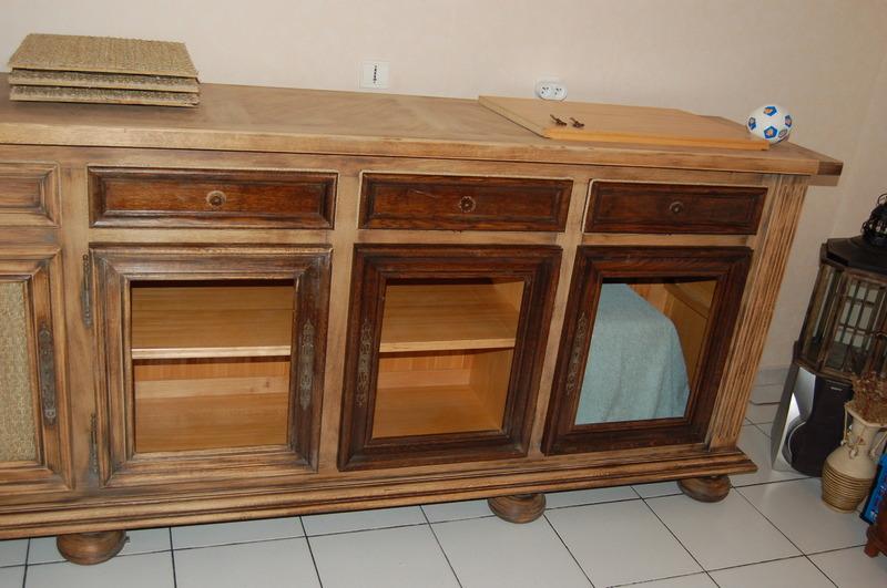 Enfilade basque en pointes de diamant for Relooker des vieux meubles