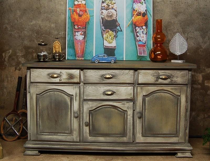 buffet bas patin aux nuances d 39 pices centerblog. Black Bedroom Furniture Sets. Home Design Ideas
